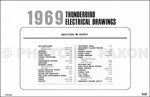 1969 Ford Thunderbird Wiring Diagram Original Electrical