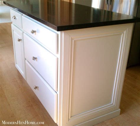 kitchen island molding before after painting a kitchen island on a budget