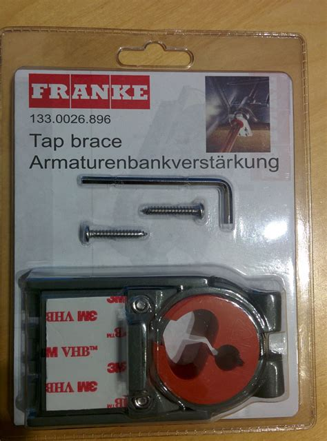 franke sink fixing franke tap brace support fixing for kitchen sink taps