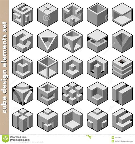 design a cube cube design elements stock vector illustration of packing