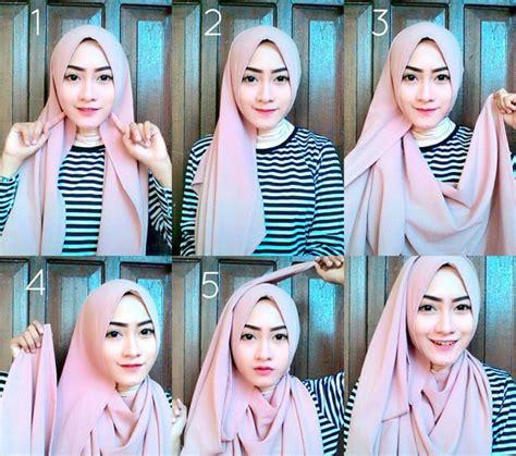 tutorial hijab pashmina wisuda terbaru  abocadosalfracaso