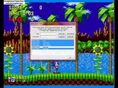 sonic  hedgehog  game genie codes genesis youtube