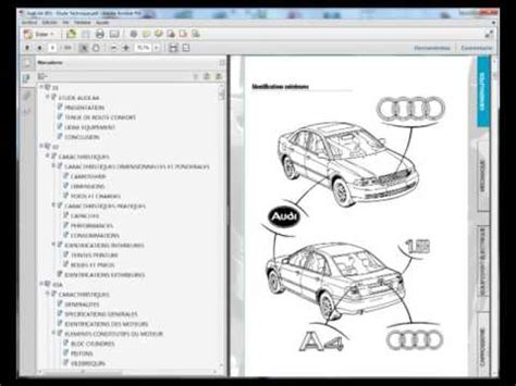 free service manuals online 2007 audi a4 security system audi a4 b5 service manual manuel de reparation youtube