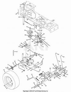 Mtd 13aa625p004  2009  Parts Diagram For Drive  U0026 Pedal System
