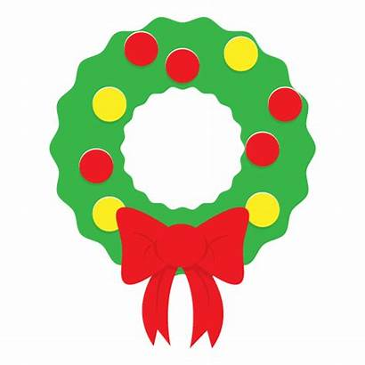 Wreath Clip Christmas Clipart Simple Holiday Cliparts