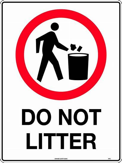 Litter Signs Safety Actions Behaviour