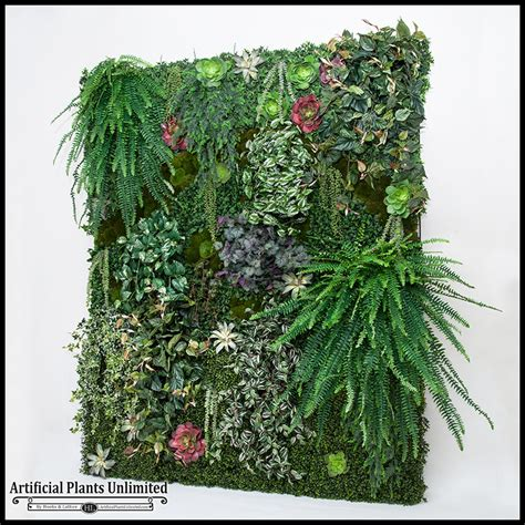 indoor vertical garden replica plant green wall faux grass artificial plants