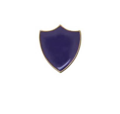 Plain Badge Shield Purple Enamelled Badges Colour
