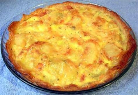 recette de tarte aux pomme de terre et au fromage de brie