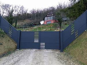 Portail Coulissant En Pente : portail terrain en pente 20170705161156 ~ Premium-room.com Idées de Décoration
