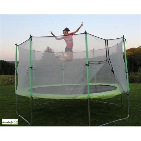 troline enfant avec protection filet 216 420cm jeux de jardin pas cher achat vente