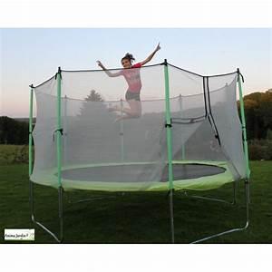 Filet De Protection Jardin : trampoline enfant avec protection filet 420cm jeux de jardin pas cher achat vente ~ Dallasstarsshop.com Idées de Décoration