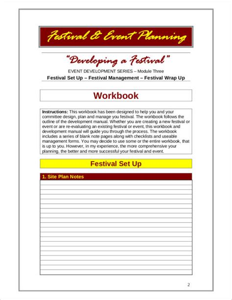 Festival Planning Template by 9 Event Planner Sles Templates Pdf Word Sle