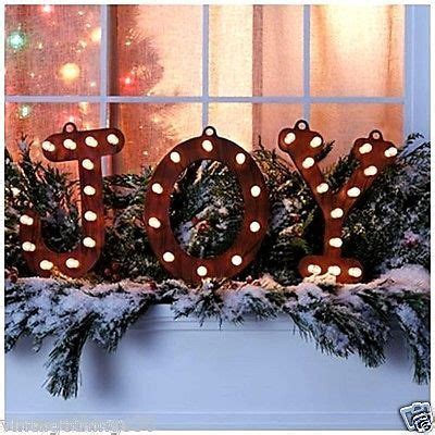 rustic lighted joy marquee sign indoor outdoor christmas