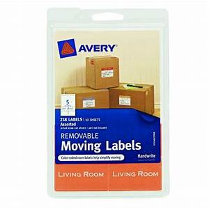 avery removable moving labels assorted sizes and colors With colored labels for moving boxes