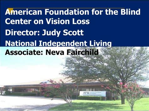 american foundation for the blind ppt american foundation for the blind center on vision