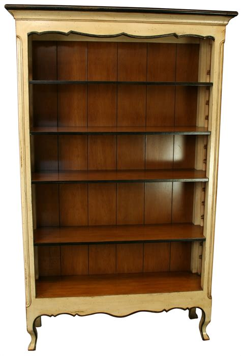 New French Country Bookcase In Cherry & Maple, Adjustable