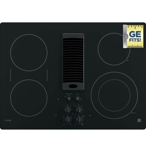 ge profile series  downdraft electric cooktop pgptjww  appliances