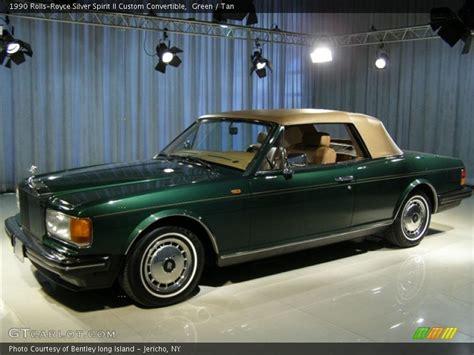 green rolls royce 1990 rolls royce silver spirit ii custom convertible in