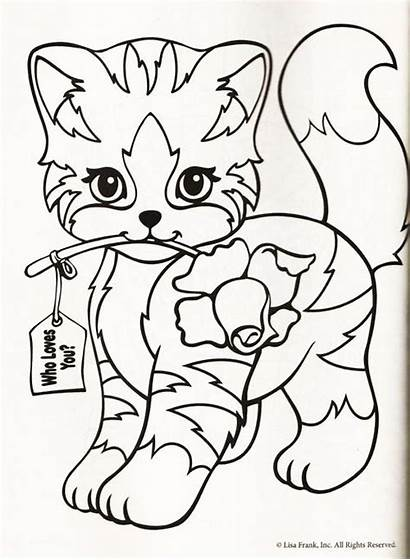 Coloring Pages Lisa Frank Cat Printable Animal