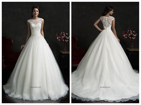 2016 Lace Wedding Dresses Amelia Sposa Monica Scalloped