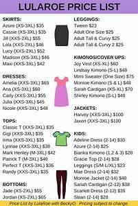 Lularoe Chart Lularoe Price List 2017 New Styles Harvey Jaxon Gigi