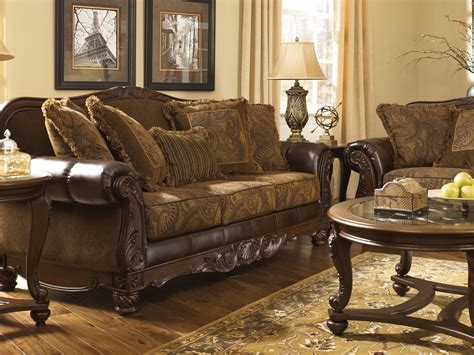 fresco durablend antique sofa chair living room set