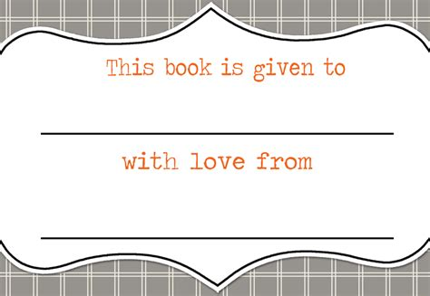 7 Best Images Of Blank Printable Bookplates Free