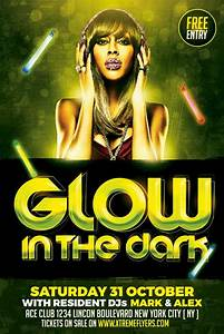 Glow Party Flyer Template Psd Download
