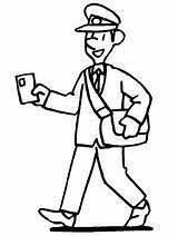 Community Coloring Pages Postman Helpers Helper Printable Sheets sketch template