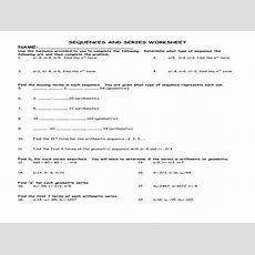 Arithmetic And Geometric Sequences Worksheet Homeschooldressagecom