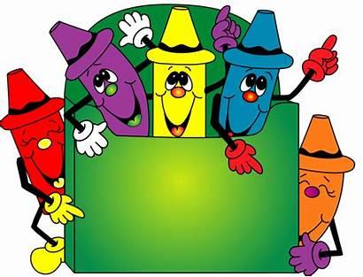 Crayon Clip Clipart Box Border Funny Give