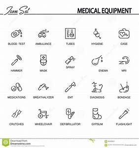 Medical Equipment Icon Set Stock Vector  Illustration Of Doctor