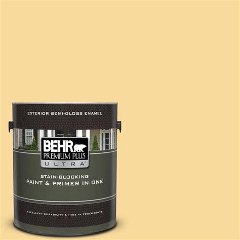 behr marquee 1 gal 760c 3 honey semi gloss enamel