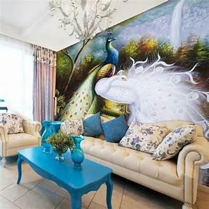 Deko Im Trend : pfauenfedern deko im wohnzimmer trends 2014 ~ Orissabook.com Haus und Dekorationen