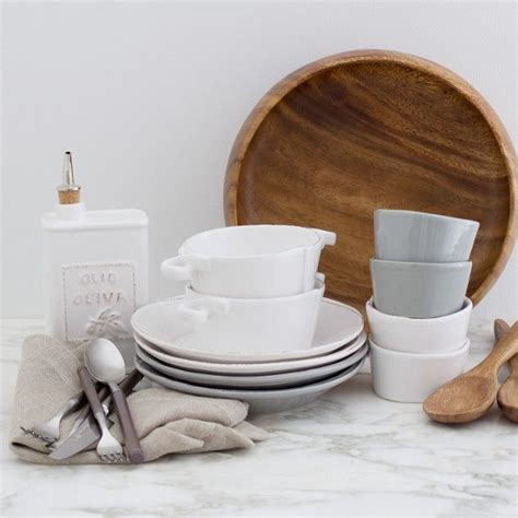 dinnerware neutral zola registry casual