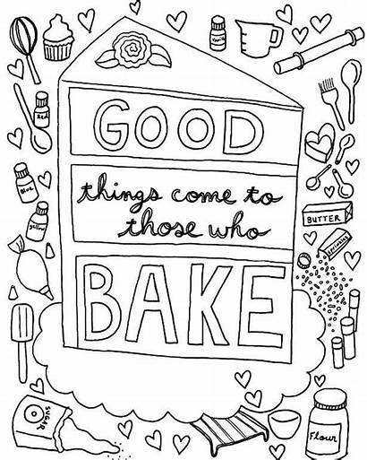 Coloring Cake Pages Adult Adults Craftsy Stress