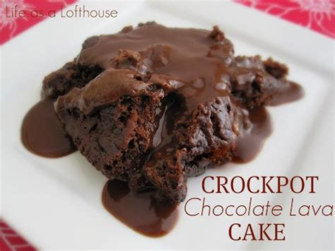 chocolate lava cake crock pot 30 slow cooker cake recipes mother s home