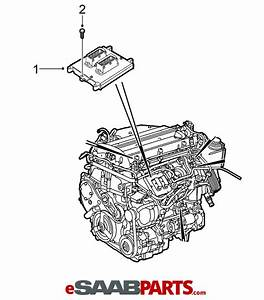 32019554  Saab Ecu  Ecm Engine Computer - 2007-2011 9-3 2 0t B207