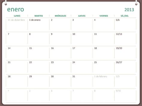 gratis descargar calendario anillar plantillas
