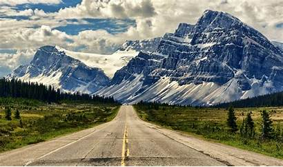Alberta Canada Mountain Road Banff Parkway Icefields