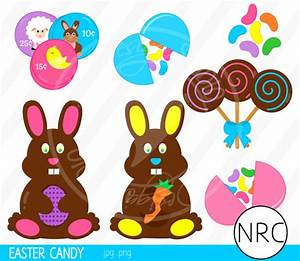 Easter Candy Sweets Clip Art Cute Chocolate by NRCDesignStudio