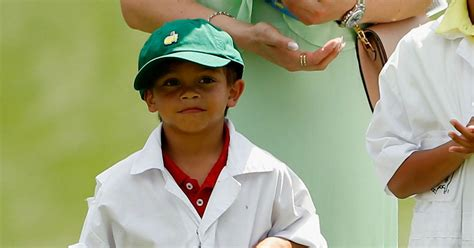 tiger woods  year  son charlie finishes   junior