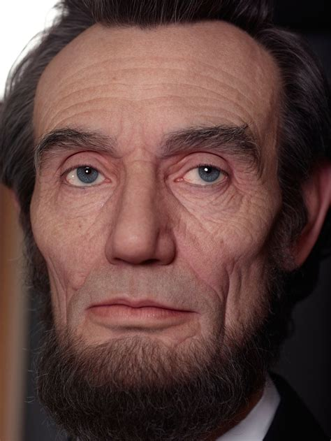shockingly realistic sculpture portrays abraham lincoln