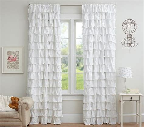 daily find pottery barn tiered ruffle sheer panel