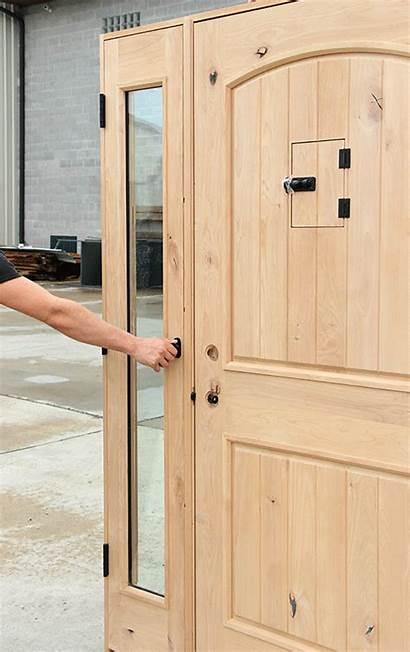 Venting Door Sidelite Entry Rustic Doors Interior