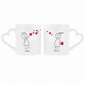 Cadeau Couple Anniversaire : couple de tasses personnalis es ~ Teatrodelosmanantiales.com Idées de Décoration