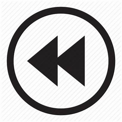 Button Rewind Previous Player Arrow Control Icon