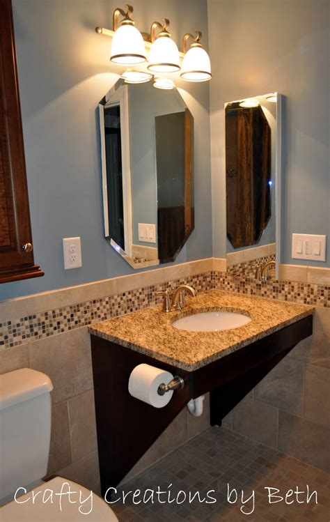 Wheelchair Accessible Sink Bathroom by Beyond The Screen Door Wheelchair Accessible Bathroom Remodel