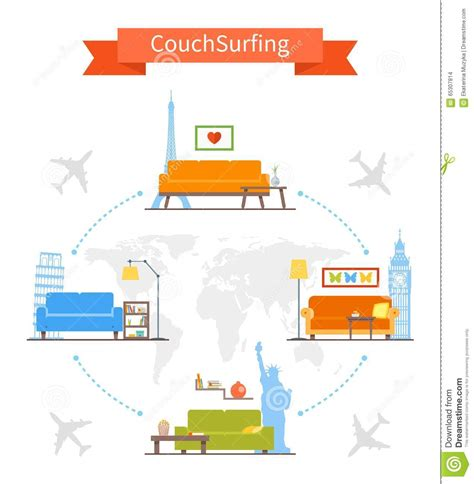 Couchsurfing Cartoons, Illustrations & Vector Stock Images